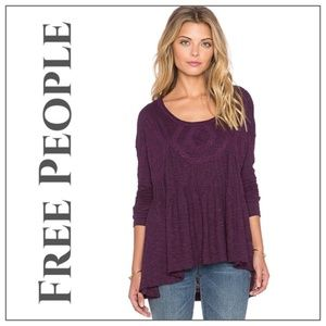 Free People Boho Baby Doll Hippie Purple Top S